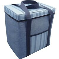 Alfresco Insulated Large 12l Cooler Bag Demin Lunch Box Brand New Gift