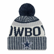 DALLAS COWBOYS NFL NEW ERA OFFICIAL ON FIELD SIDELINE NAVY BEANIE SPORT KNIT HAT