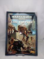 TAU EMPIRE, WARHAMMER 40,000 4th EDITION CODEX, GAMES WORKSHOP, 40K Book