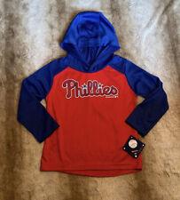 NEW- Philadelphia Phillies Toddler Long Sleeve Hooded Shirt 2T