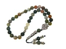 0049 - Beautiful Prayer Worry Beads Tasbih 8mm Indian Agate Gemstone Beads