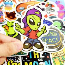 50* Stickers Vinyl Skateboard Longboarding Travel Pack Alien UFO Graffiti Decals