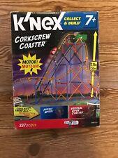 K'Nex Corkscrew Roller Coaster w/ Motor Collect & Build Set Building Toys New