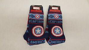 Set of 2 Marvel's Captain America Men's Sweater Socks, NWT