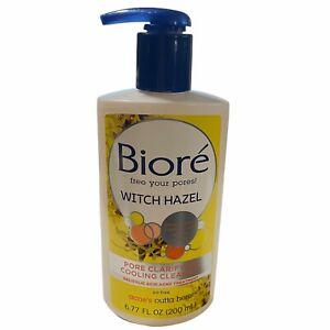 Bioré Witch Hazel Pore Clarifying Cooling Cleanser free your pores 6.77 oz