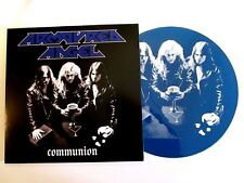 ARMOURED ANGEL COMMUNION LP RARE 1990 DEMO BLUE VINYL PICTURE DISC THRASH METAL