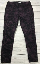Cabi Womens size 8 Twilight Camo Jeans Purple And Black