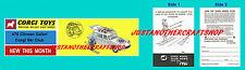 Corgi Toys 475 Citroen Safari Corgi Ski Club Instruction Leaflet & Poster Sign