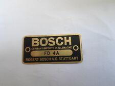 Typenschild Schild Bosch FD 4 A 4A Messing Oldtimer s14