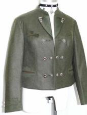 GREEN ~ LODEN WOOL Women German Hunting Riding DIRNDL Dress JACKET Coat / 10 M