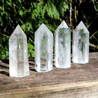 CLEAR QUARTZ CRYSTAL POINT NATURAL CLEAR SINGLE TERMINATED HEALING GEMSTONE