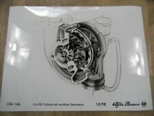 Disegno ALFA ROMEO ALFA 166 2.4 multijet turbina M QUOTE VAR. geometria 10/98 sr1017