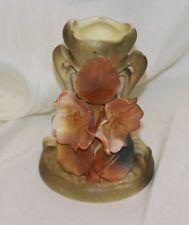 Antique Royal Dux Austria Porcelain Nouveau Vase FLOWER 3 Dimensional LOT 3522