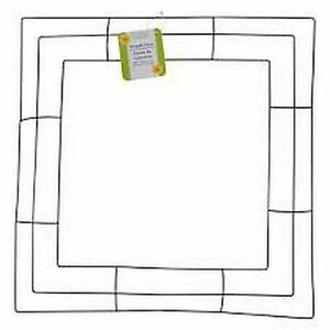 """LOT OF 3 SQUARE METAL 14"""" WREATH FORM FRAME DIY CRAFTS FLORAL WIRE RECTANGLE"""