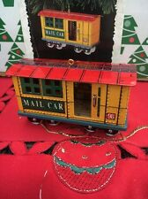 Yuletide Central Train Mail Car Christmas Hallmark Keepsake Ornament In Box