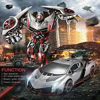 JIAQI TT667 SideSwipe RC IR Remote Control Transformers Robot Car Ages 8+ Toy