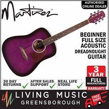 NEW Martinez Beginner Steel String Acoustic Full Size Dreadnought Guitar Purple