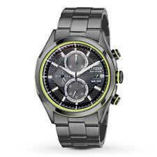 New Men's Citizen Eco-Drive Black Ion HTM 2.0 Chronograph Watch CA0435-51E
