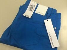 Womens Jeans Size 29 Length 34 by Calvin Klein Low Rise SKINNY Turquoise
