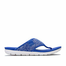 Womens Fit Flop Artknit Toe Thong Sandals in Blue.