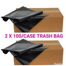 """200/Case 55-60 Gallon Black 1.5 Mil 38""""x 58"""" Low Density Trash Bag Can Liner"""