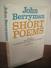 1st Edition SHORT POEMS John Berryman FIRST PRINTING Poetry CLASSIC Fiction