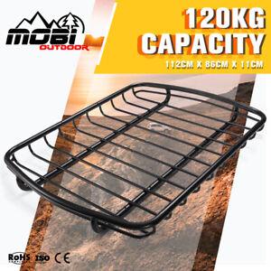 MOBI Roof Rack Basket Universal Car Luggage Carrier Steel Vehicle Steel Black