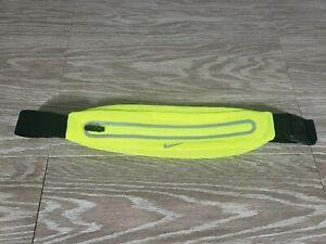 Nike Running Lean Waist Pack Running Belt Reflective Expandable Neon Yellow