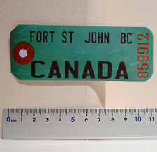 #4513 Fort St John BC Canada British Columbia Travel Luggage Label Decal Sticker