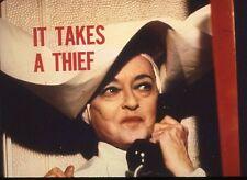 BETTE DAVIS IT TAKES A THIEF ORIGINAL 1968 ABC TV PHOTO BILLBOARD SLIDE & PHOTO