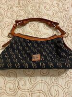 Dooney & Bourke Brown And Black canvas with leather trim purse - Excellent