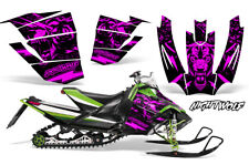 Arctic Cat Sno Pro Race Sled Wrap Snowmobile Decal Graphic Kit NIGHTWOLF PINK