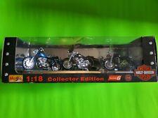MAISTO 1:18th Harley-Davidson 1999 Series 6 Diecast Motorcycles MIB