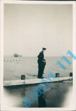 1946  Post WW2 Photo Royal  Navy Sailor  HMS Peregrine on sussex coast