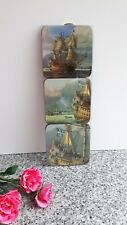 Vintage Retro 6 Cork Backed Drinks Coasters of Vasa 1628 New in Original Box