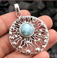 925 Sterling Silver Larimar Pendant