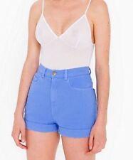 American Apparel Denim High Waist Cornflower Periwinkle Shorts Size 26