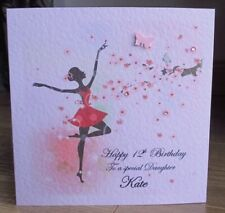 Blossom Dancer Dancing Personalised Birthday Card Granddaughter Daughter Niece