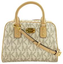 Neues AngebotMichael Kors SATCHEL BAG Vanilla & beige PVC Logo Monogramm kleine Handtasche
