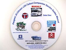 PEUGEOT J5,CITROEN C25,TALBOT,COMPANION SERVICE GUIDES WORKSHOP MANUAL TUTORIALS