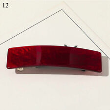 Acrylic Rectangle Hairpin Girl Marbling Hair Clamp Barrette Hairgrip Spring Clip