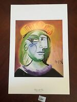 Woman with Beret by Pablo Picasso 11x17 Vintage Artwork  Repro Print