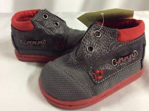 Toms Kids Shoes ,Tiny Bimini High Size 3 Baby , Gray Quilted nylon