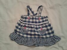 BNWOTS BABY GIRLS BLOUSE TOP 0-3 MONTHS BLUE WHITE CHECKED PATTERN