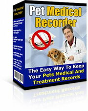 Keep Your Pet's Medical And Treatment Records The Easy Way - Any Animal (CD-ROM)