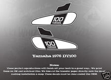 YAMAHA 1976 DT100 FUEL GAS TANK DECAL GRAPHIC LIKE NOS