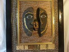 Mixed media wall art/paper mache wall art/ folk art/African wall art/Recycle Art