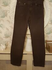 """MENS """"CREW CLOTHING"""" BROWN 100% COTTON REG FIT ZIP FLY JEAN SIZE 32R STRAIGHT"""