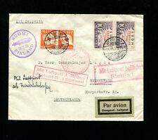 Zeppelin Sieger 89B 1930 Baltic Flight Finland Dispatch with hi-value semipostal