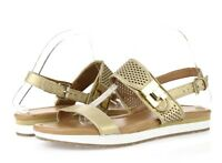 Women's TOMMY HILFIGER 228038 gold leather slingback sandals sz. 9.5